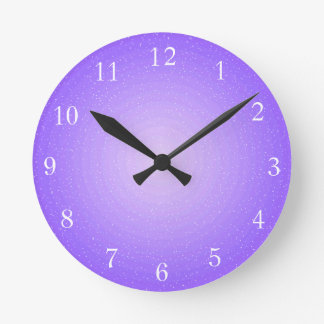 Plain Purple Illuminated Printed Design Wall Clock