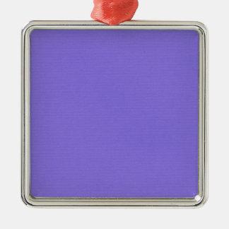 Plain Purple Silver-Colored Square Decoration