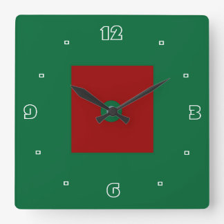 Plain Red and Green >Kitchen Clock