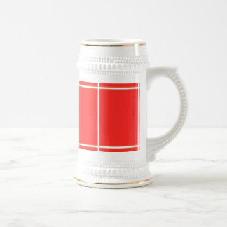 Plain RED : Buy BLANK or Add TEXT n IMAGE lowprice Beer Steins