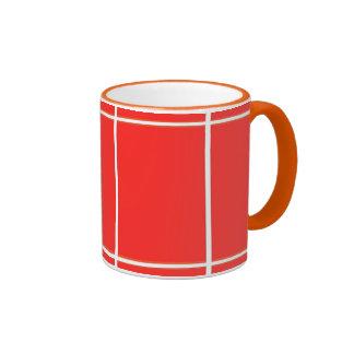 Plain RED : Buy BLANK or Add TEXT n IMAGE lowprice Ringer Mug