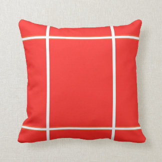 Plain RED : Buy BLANK or Add TEXT n IMAGE lowprice Throw Pillow