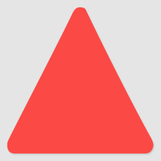 Plain RED : Buy BLANK or Add TEXT n IMAGE lowprice Triangle Sticker