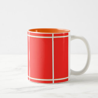 Plain RED : Buy BLANK or Add TEXT n IMAGE lowprice Two-Tone Mug