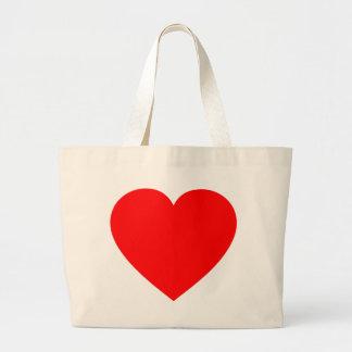 Plain Red Heart Jumbo Tote Bag