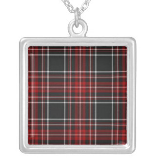 Plain Red Plaid Necklace