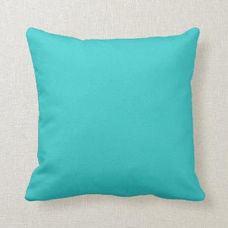 Plain Retro Tree Baubles Turquoise square Cushion