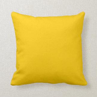 Plain Retro Tree Baubles Yellow square Cushion