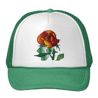 plain rose on hat