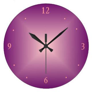 Plain Rose Pink >Wall Clock