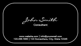 Rounded corners business cards zazzle uk plain round corner consultant dark business card reheart Images