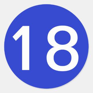 Plain Royal Blue 18 Round Sticker