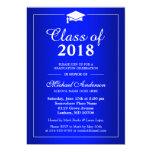Plain Royal Blue Class Of 2016 Graduation Party 13 Cm X 18 Cm Invitation Card