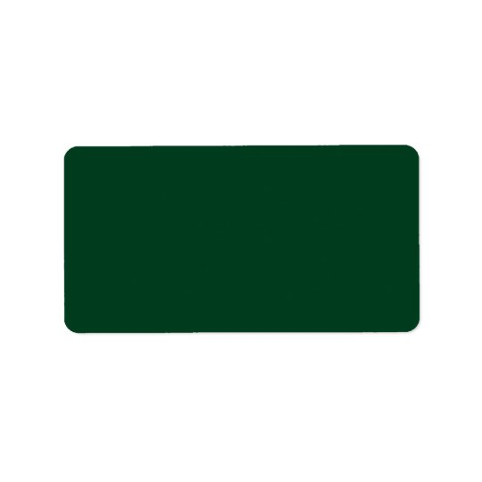 Plain saturated dark green background blank custom label