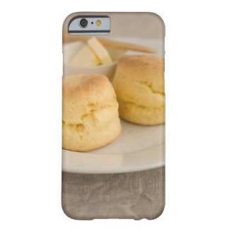 Plain scone with butter on plate barely there iPhone 6 case