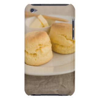 Plain scone with butter on plate barely there iPod cases