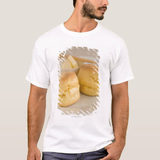 Plain scone with butter on plate T-Shirt