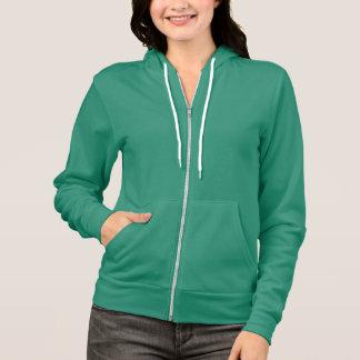 Plain sea green hoodie fleece for women, ladies
