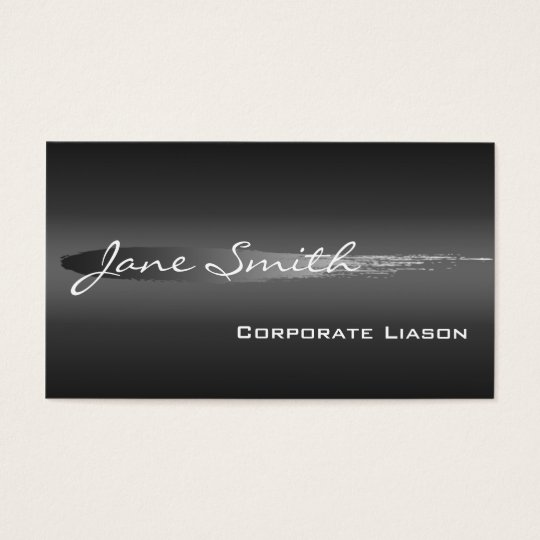 Plain Shades of Grey Professional Business Cards