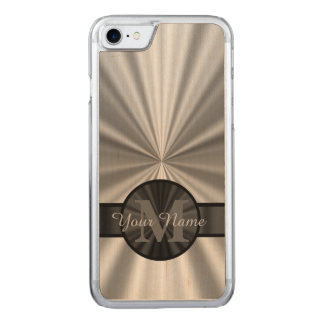 Plain silver monogram carved iPhone 8/7 case