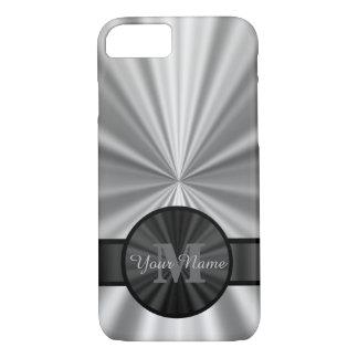 Plain silver personalized monogram iPhone 8/7 case