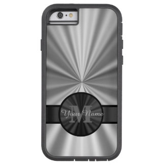 Plain silver personalized monogram tough xtreme iPhone 6 case