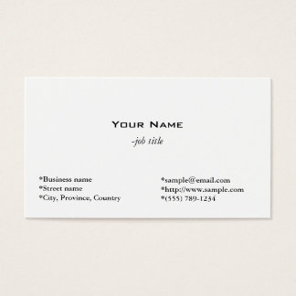 plain, simple and cool  white profile card