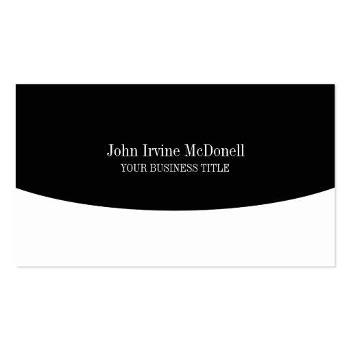 Plain & Simple Black & White Business Card