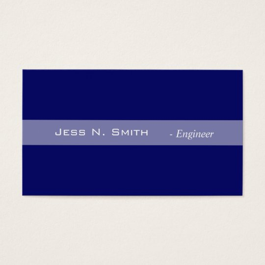 Plain,simple,elegant blue business card. business card