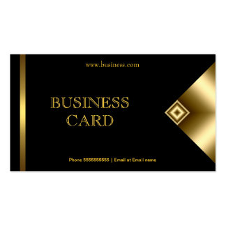 Plain Simple Gold Black Elegant Classy 4a Double-Sided Standard Business Cards (Pack Of 100)