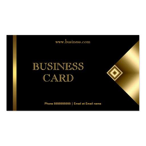 Plain Simple Gold Black Elegant Classy 4a Business Card Templates