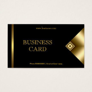 Plain Simple Gold Black Elegant Classy 4a Business Card