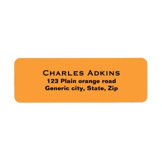 Plain simple orange background black text custom
