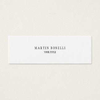 Plain Simple Professional White Mini Mini Business Card