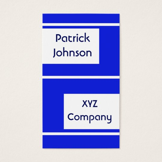plain simple royal blue business card