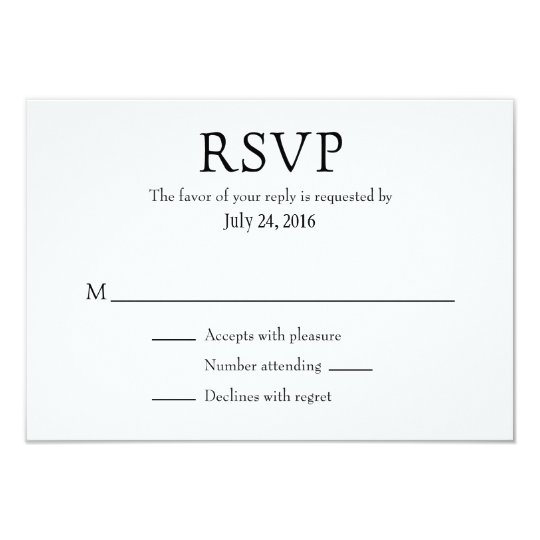 Plain Simple Wedding RSVP Cards