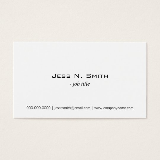 Plain,simple white business card