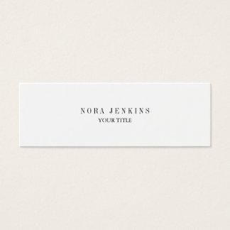 Plain Slim Professional Black White Mini Mini Business Card