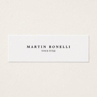 Plain Slim Professional Modern Business Card