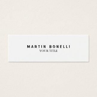 Plain Slim Professional White Mini Business Card
