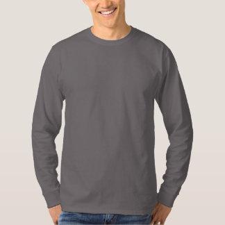 Plain Smoke Grey Mens Basic Long Sleeve T-shirt