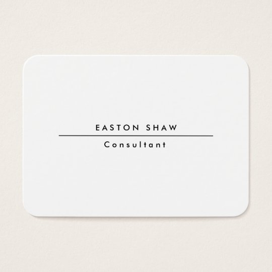 Plain Stylish Chubby White Professional Creation Business Card