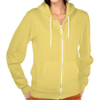 Plain sunny yellow hoodie fleece for women, ladies