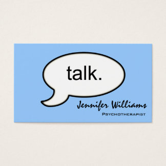 Plain Talk Psychotherapist Modern Business Card