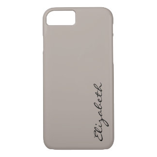 Plain Tan Background iPhone 7 Case