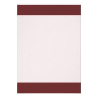 Plain Titian Red color 13 Cm X 18 Cm Invitation Card