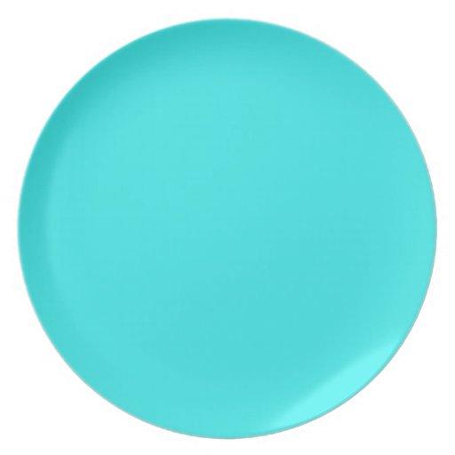 plain turquoise colour background dinner plate zazzle