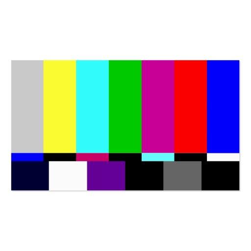 Plain TV Screen Film Editor Business Card