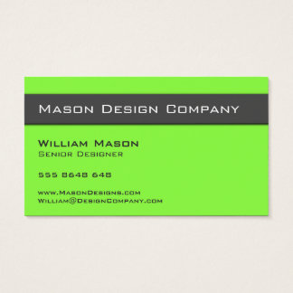 Plain Two Tone Lime and Gray Stylish Card