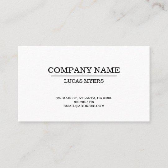 Plain typewriter font business card zazzle plain typewriter font business card reheart Choice Image